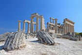 Ancient temple at Aegina island in Greece — Stock Photo