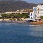 Aghia Marina fishing village at Aegina island in Greece — Stock Photo