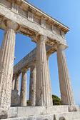 Classical ancient temple of Aphaea Athina at Aegina island in Greece. — Stock Photo