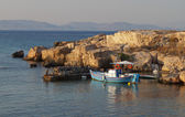 Fishing boat at the mediterranean sea in Greece — Stock Photo