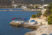 île d'egine à la mer méditerranée en grèce — Photo