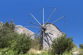 Old traditional windmill at Crete island in Greece — Stock Photo