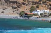 Agia Roumeli Strand auf der Insel Kreta in Griechenland — Stockfoto