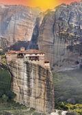 Hanging monastery at Meteora of Kalampaka in Greece — Stock Photo