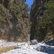 Samaria gorge at Crete island in Greece — Stock Photo