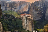 Hanging monastery at Meteora of Kalampaka in Greece — Stock Photo