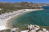 Vai palmträd bukten och stranden på kreta i grekland — Stockfoto