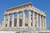 Classical ancient temple of Aphaea Athina at Aegina island in Greece. — Stock Photo