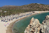 Vai palmtrees bay and beach at Crete island in Greece — Stock Photo