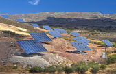 Solar panels unit at Crete island in Greece — Stock Photo