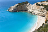 Porto Katsiki beach at Lefkada island in Greece. — Stock fotografie
