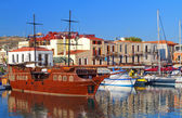 Rethymnon city at Crete island in Greece — Stock Photo