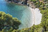 在哈尔基迪基在希腊风景名胜远程海滩 — 图库照片