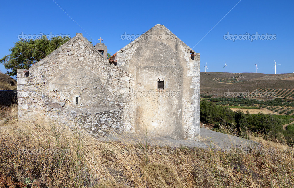 Old church at the Voila medieval settlement at Crete island in Greece — Stock Photo #12971514