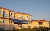 традиционный греческий отель на острове кефалония в греции — Стоковое фото