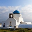 Traditional church at Santorini island in Greece — Stock Photo #13008222