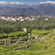 Ancient and modern Sparta historical city in Greece — Stock Photo