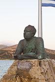 Statue of poet Nikos Kavadias at Argostoli, Greece — Stock Photo