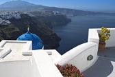 圣托里尼岛和希腊的费拉城 — 图库照片