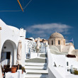 Stock Photo: Santorini island in Cyclades, aegesea, Greece