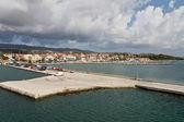 Porto della città di lixouri a isola di cefalonia in grecia — Foto Stock