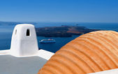 Architecture and decoration at Santorini island in Greece — Stock Photo