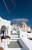 Santorini island in the Cyclades, aegean sea, Greece — Stock Photo