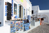 Traditional Greek shop at Santorini island in Greece — Stock Photo
