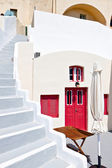 Traditional house at Fira city of Santorini island in Greece — Stock Photo