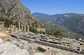 阿波罗在希腊德尔斐考古工地的寺庙 — 图库照片