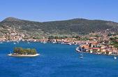 Vathi bay at Ithaki island in Greece — Stock Photo