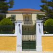 Stock Photo: Greek neoclassical house at Kefaloniisland in Greece