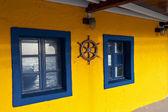 Taverna greca a isola di santorini — Foto Stock