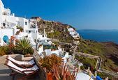 Oia la aldea en la isla de santorini en grecia — Foto de Stock