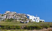Monolitos de la isla de santorini en el mar egeo en grecia — Foto de Stock