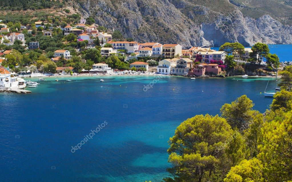Traditional fishing village of Assos at Kefalonia island in Greece  Stock Photo #13038542