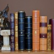 Library with old antique books — Stock Photo #13044812