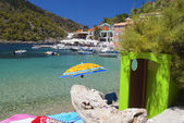 Village of Assos at Kefalonia island in Greece — Stock Photo