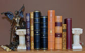 Library with old antique books — Stock Photo