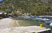 Fishing village of Frikes at Ithaki island in Greece — Stock Photo