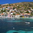 Fishing village of Assos at Kefalonia island in Greece — Stock Photo