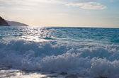 Mirtos beach at Kefalonia island in Greece — Stock Photo