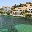 Fiscardo village at Kefalonia island in Greece — Stock Photo
