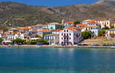 Scenic fishing village of Galaxidi in Greece — Stock Photo
