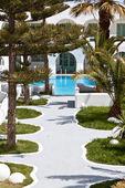 Hotel di lusso a isola di santorini in grecia — Foto Stock