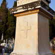 Tombstone at Kefalonia island in Greece - Stock Photo
