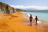 Beach at Kefalonia island in Greece — Stock Photo