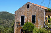 Traditional house at Ithaki island in Greece — Stock Photo