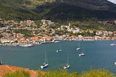 Vathi bay at Ithaki island in Greece — Стоковое фото