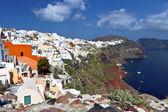 Santorini island in Greece. Oia village — Stock Photo